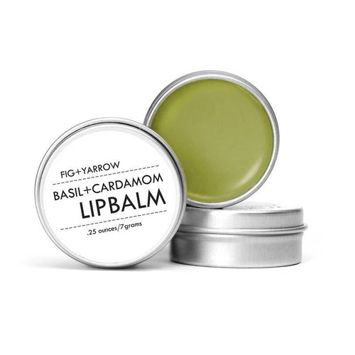 BASIL+CARDAMOM LIP BALM {tin} by Fig and Yarrow
