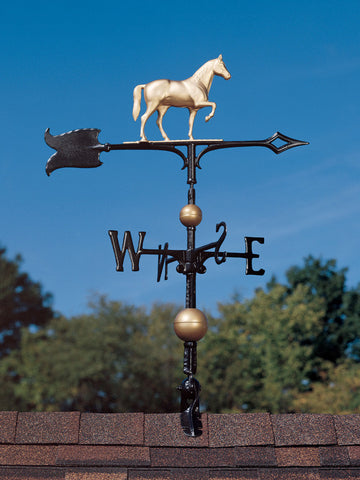 "30"" Full-Bodied Horse Rooftop Weathervane"