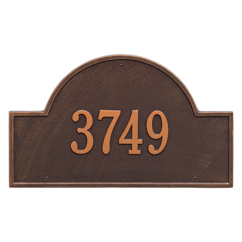 Arch Marker Estate Wall Address Plaque One Line