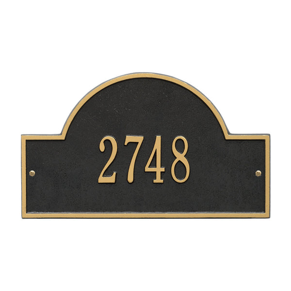 Arch Marker Standard Wall Address Plaque One Line