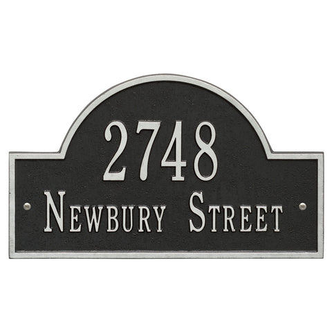 Arch Marker Standard Wall Address Plaque Two Line