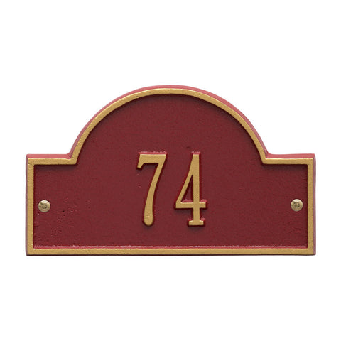 Arch Marker Petite Wall Address Plaque One Line