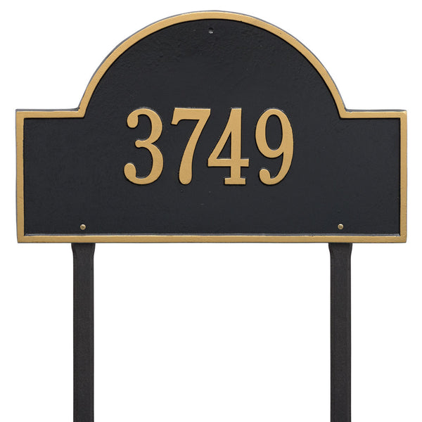 Arch Marker Estate Lawn Address Plaque One Line
