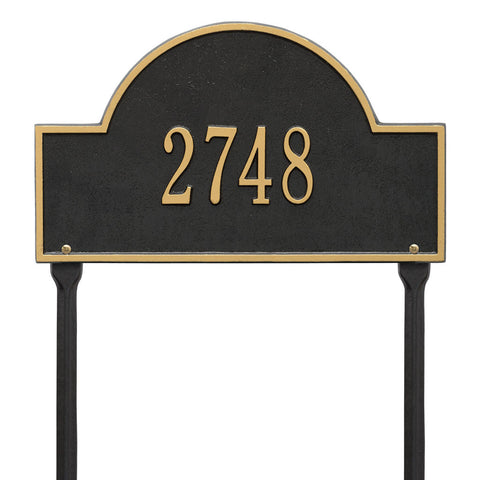 Arch Marker Standard Lawn Address Plaque One Line