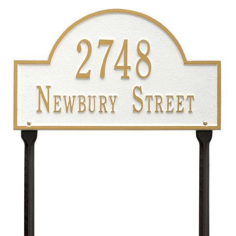 Arch Marker Standard Lawn Address Plaque Two Line