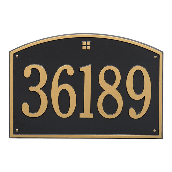 Cape Charles Estate Wall Address Plaque One Line