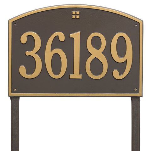 Cape Charles Estate Lawn Address Plaque One Line