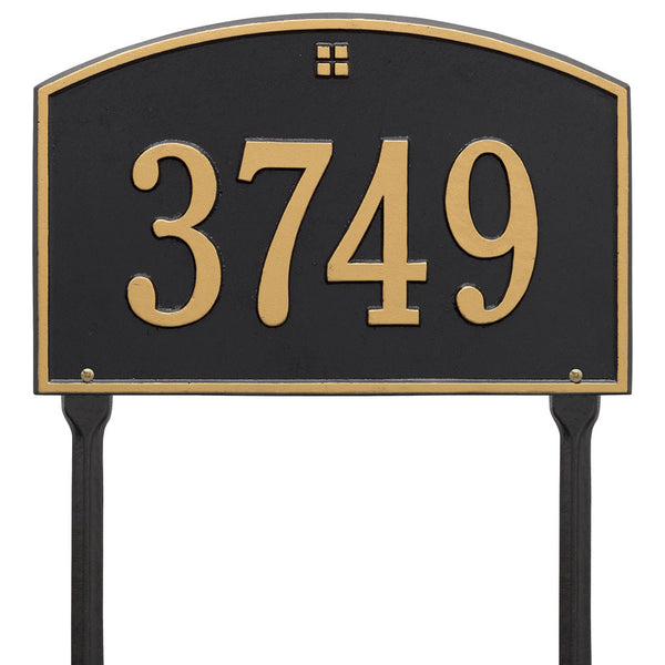 Cape Charles Standard Lawn Address Plaque One Line