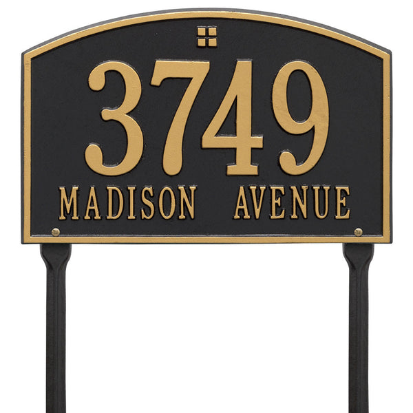 Cape Charles Standard Lawn Address Plaque Two Line