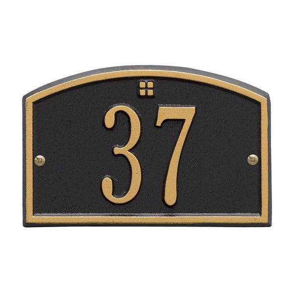 Cape Charles Petite Wall Address Plaque One Line