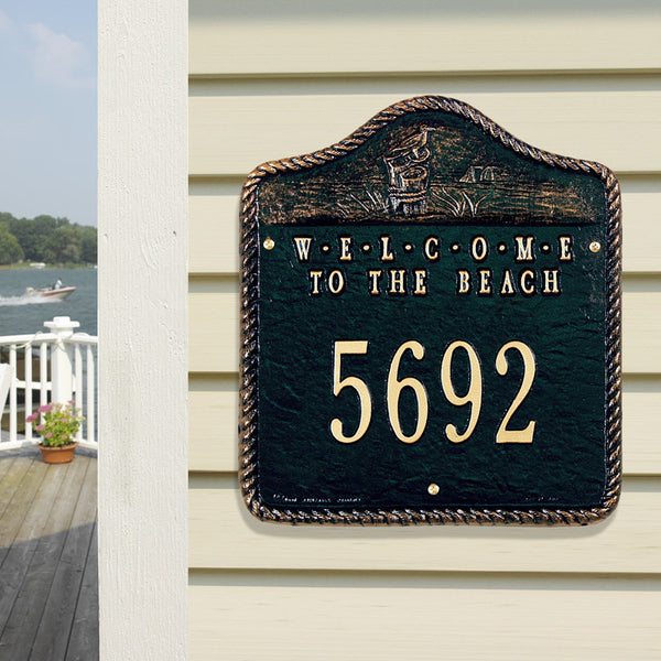 Welcome To The Beach Wall Plaque One Line