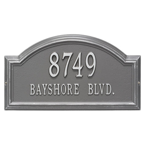 Providence Arch Standard Wall Address Plaque Two Line
