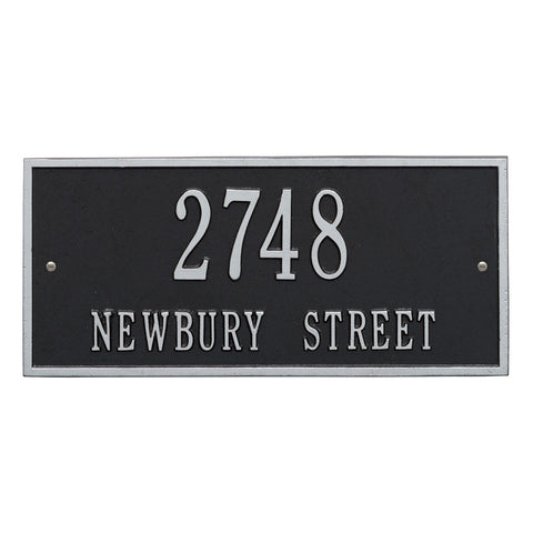 Hartford Standard Wall Address Plaque Two Line