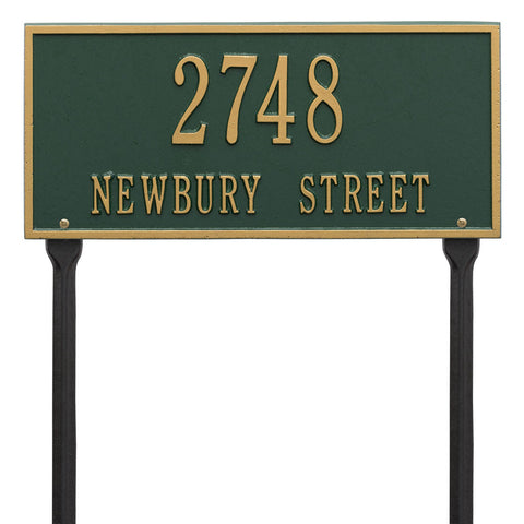 Hartford Standard Lawn Address Plaque Two Line
