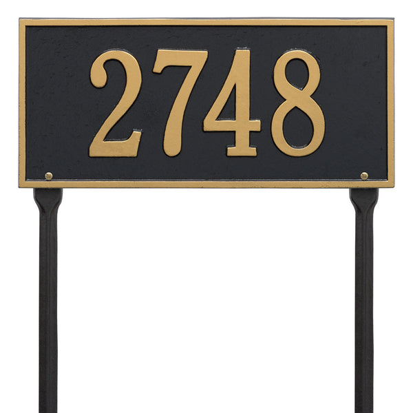 Hartford Standard Lawn Address Plaque One Line