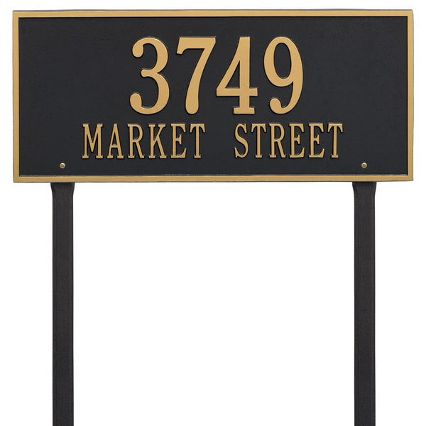 Hartford Estate Lawn Adress Plaque Two Line