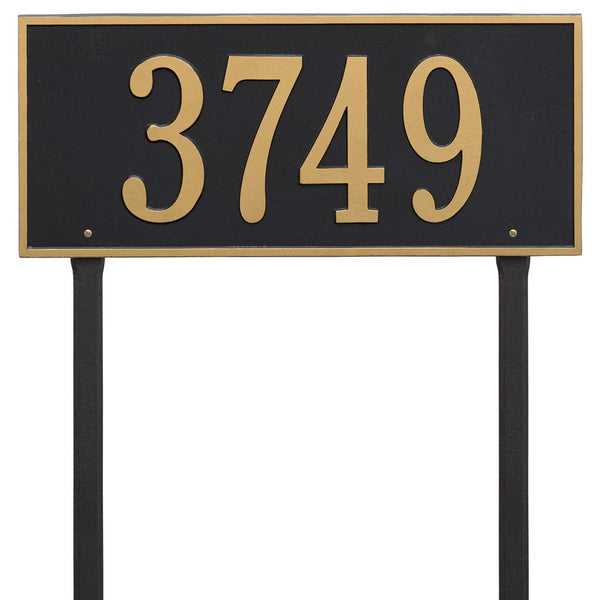 Hartford Estate Lawn Address Plaque One Line