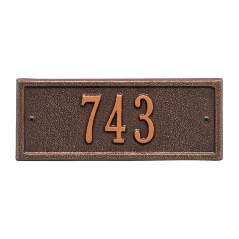 Hartford Petite Wall Address Plaque One Line