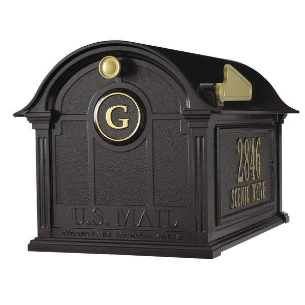 Balmoral Mailbox Side Plaque Monogram Pkg