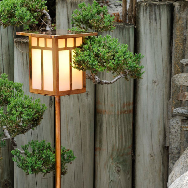 Craftsman Lantern Light - Flat Roof - Post