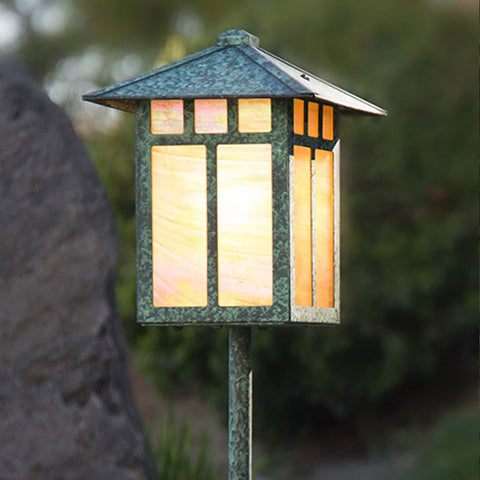 Craftsman Lantern Light - Pitched Roof - Post