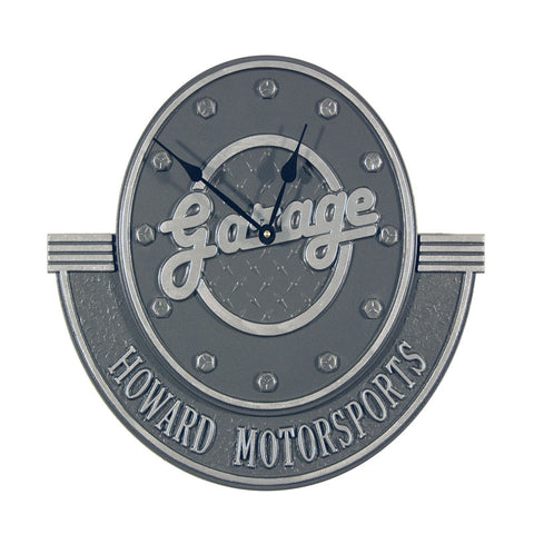 Personalized Garage Clock with Add-On