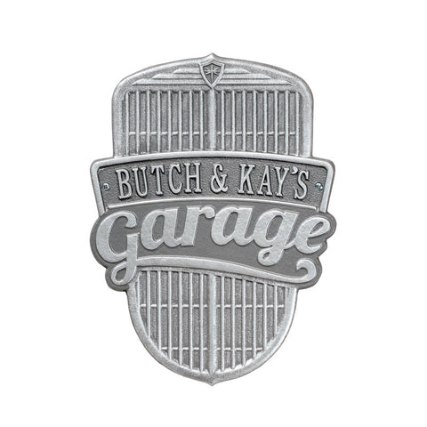 Car Grille Garage Plaque Standard Wall One Line