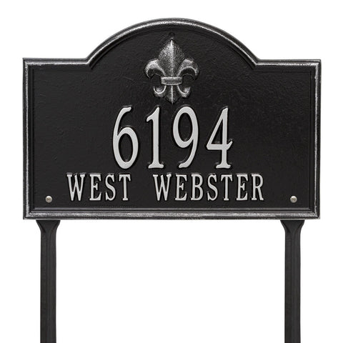 Bayou Vista Standard Lawn Address Plaque Two Line