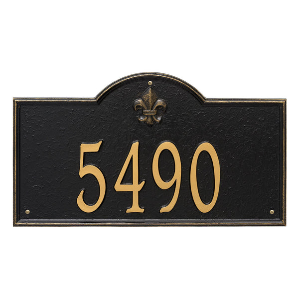 Bayou Vista Estate Wall Address Plaque One Line