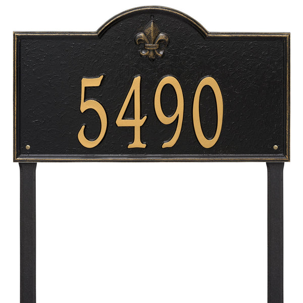 Bayou Vista Estate Lawn Address Plaque One Line