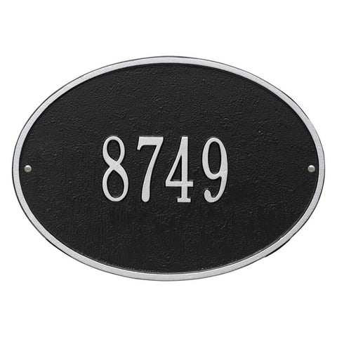 Hawthorne Oval Standard Wall Address Plaque One Line