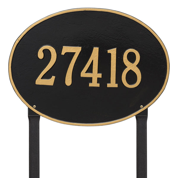 Hawthorne Oval Estate Lawn Address Plaque One Line
