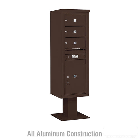 4C Pedestal Mailbox 14 Door High Unit Single Column