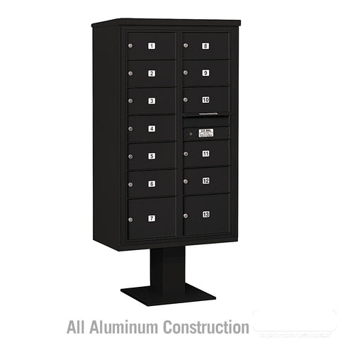 4C Pedestal Mailbox 15 Door High Unit Double Column