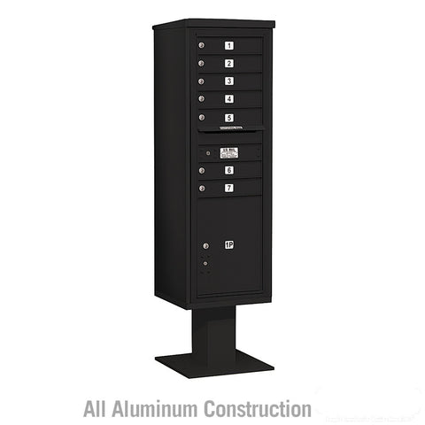 4C Pedestal Mailbox 15 Door High Unit Single Column