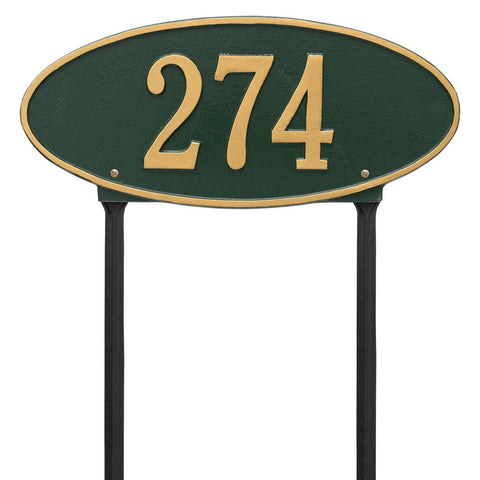 Madison Oval Standard Lawn Address Plaque One Line