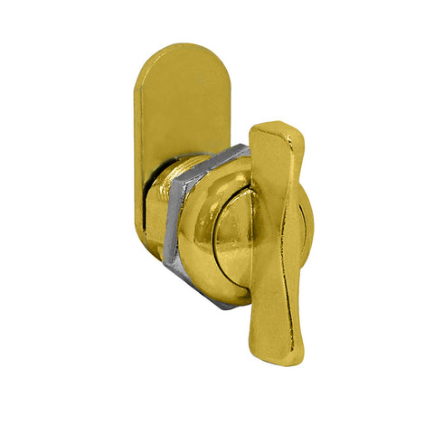 Thumb Latch Option for Locking Column Mailbox and Modern Mailbox Gold Finish
