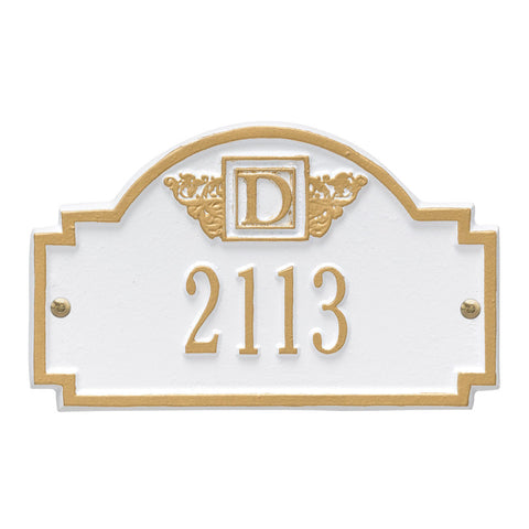 Monogram Petite Wall Address Plaque One Line