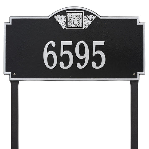 Monogram Estate Lawn Address Plaque One Line