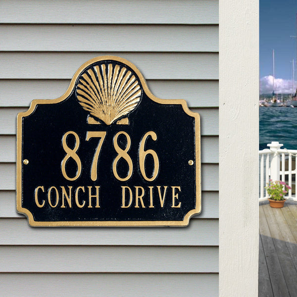 Standard Conch Wall Plaque Two Line