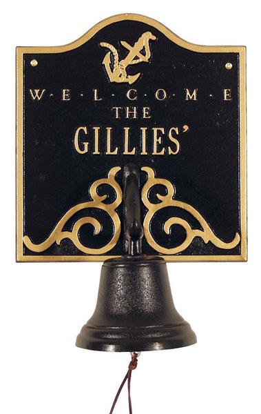 Anchor Bell Welcome Wall Plaque One Line