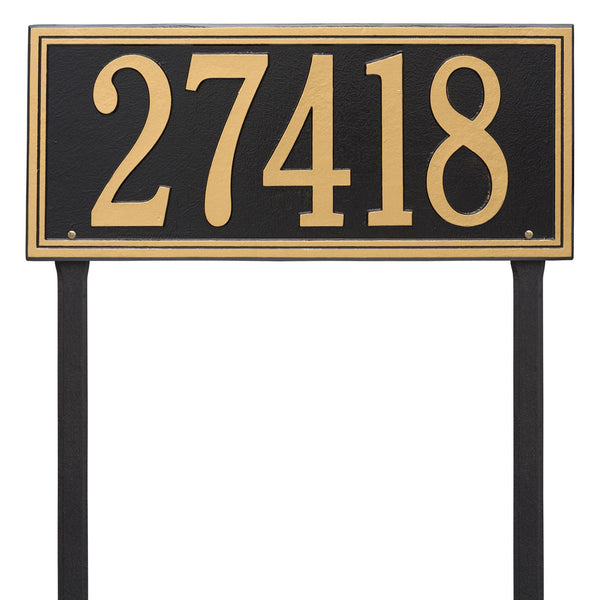 Double Line Estate Lawn Address Plaque One Line