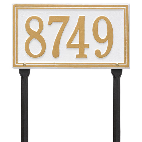 Double Line Standard Lawn Address Plaque One Line
