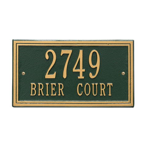 Double Line Standard Wall Address Plaque Two Line