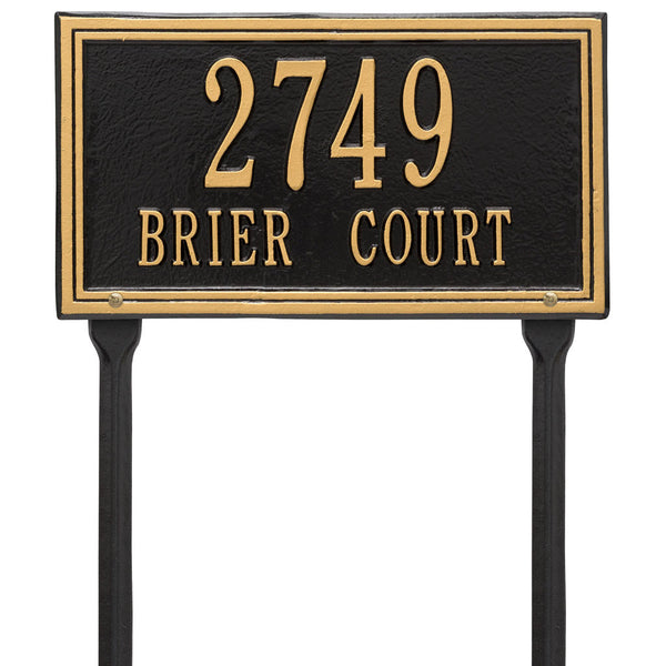 Double Line Standard Lawn Address Plaque Two Line