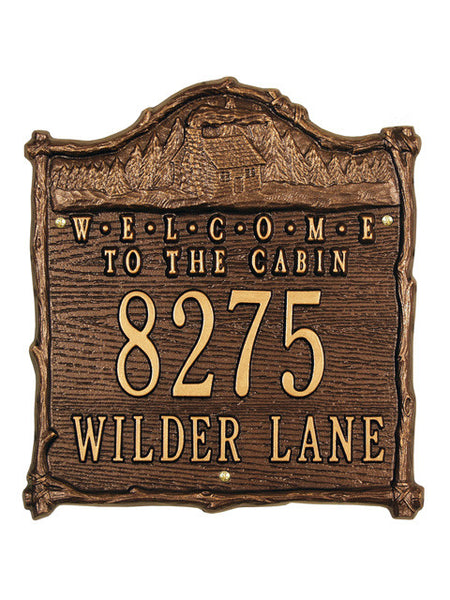 Cabin Welcome Plaque Standard Wall Two Line