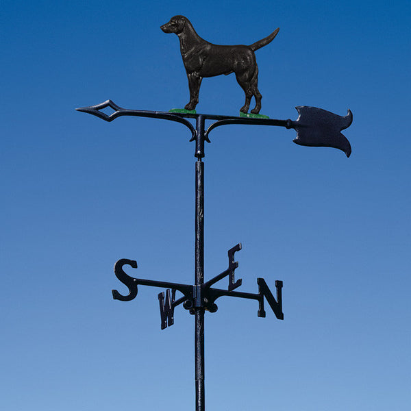 "30"" Black Lab Garden Weathervane"