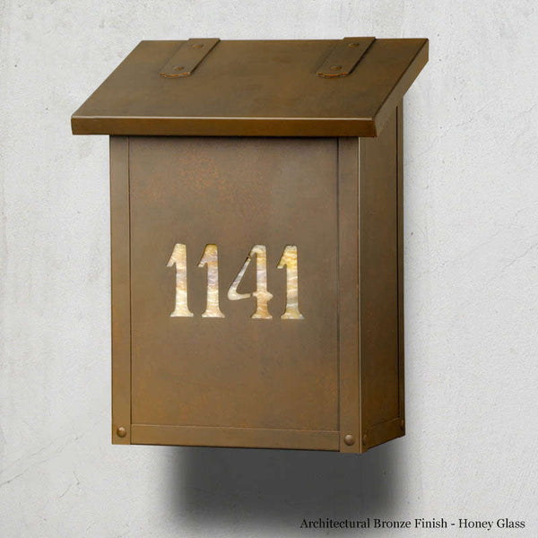 Classic House Numbers Wall Mounted Mailbox - Vertical