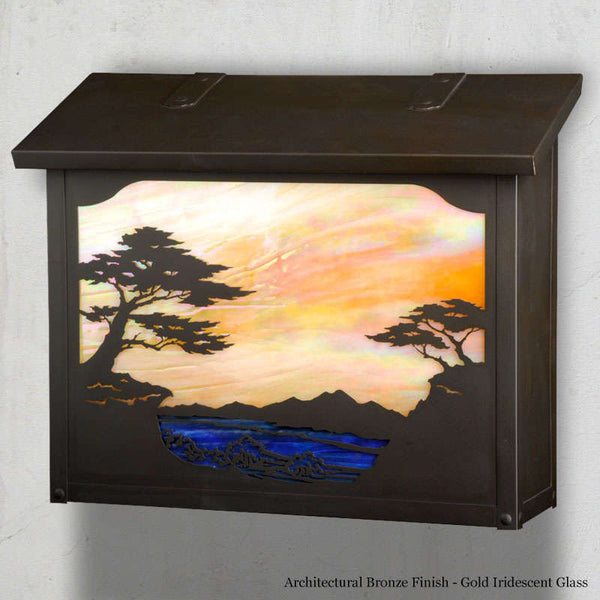 Monterey Cypress Wall Mounted Mailbox - Large