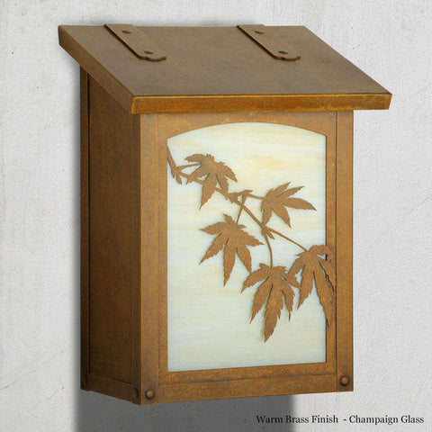 Japanese Maple Wall Mounted Mailbox - Vertical